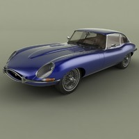 1967 e-type coupe 2 3D model