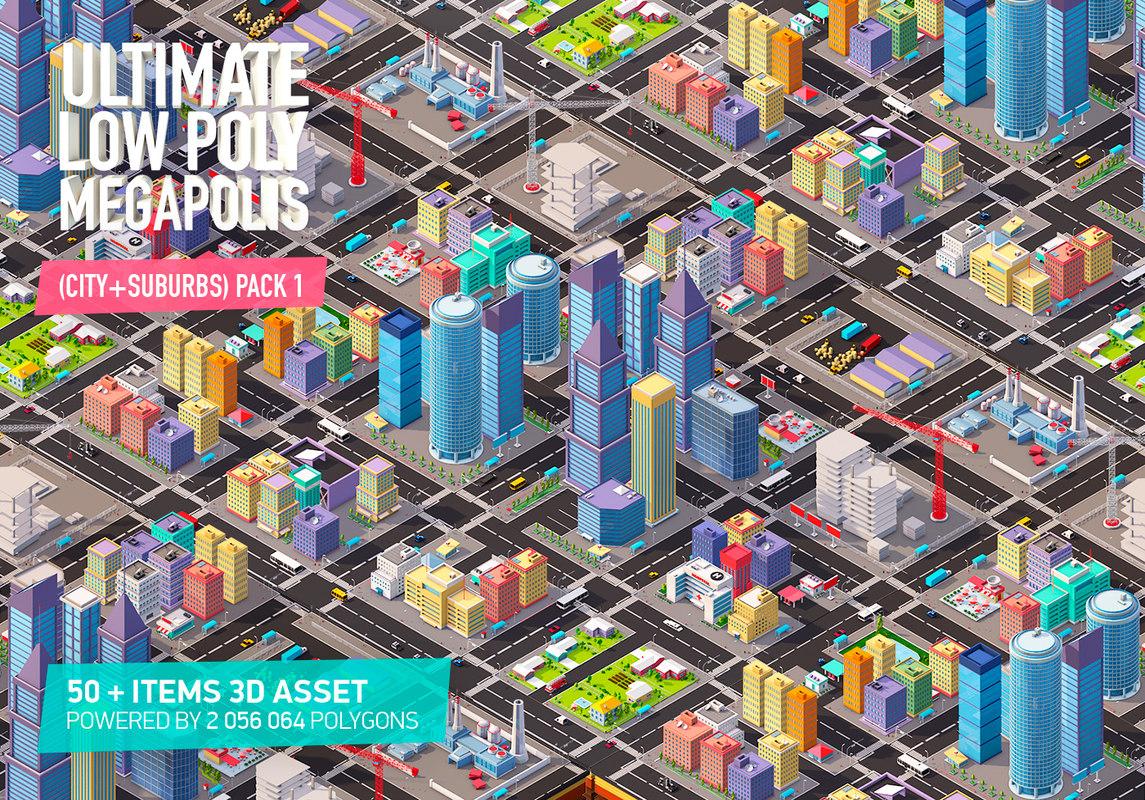 3D model megapolis city