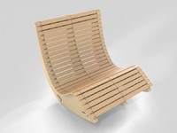 wood lounge chair 3D model