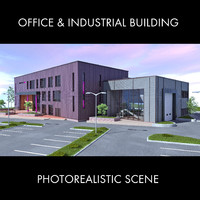 office industrial building 3D model