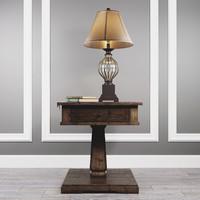 Table Zalarah with lamp Ondreya