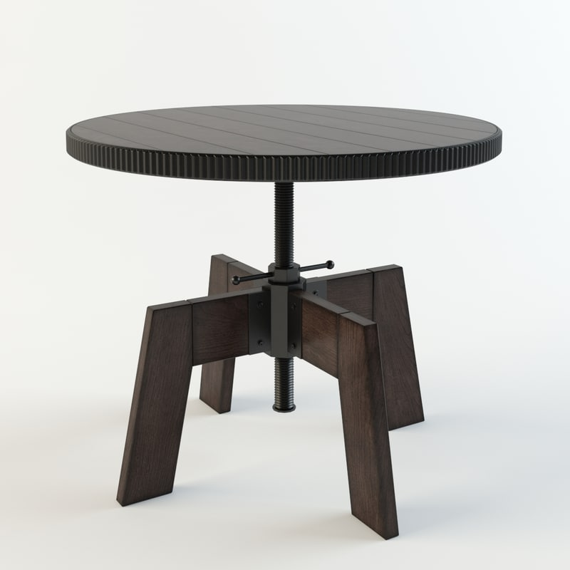 high-low table hammary 3D model