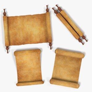 3D scrolls model