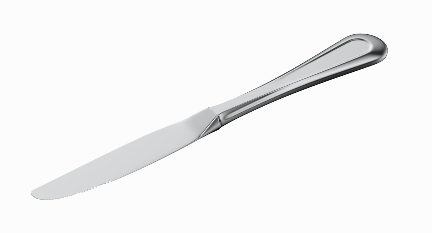 dessert knife 3D