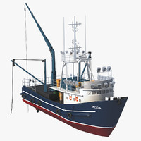 3D fishing boat model