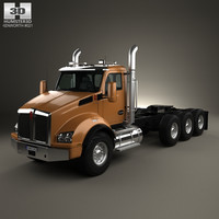 Kenworth T880 Chassis Truck 4-axle 2013