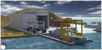3D dubai shipyard ships