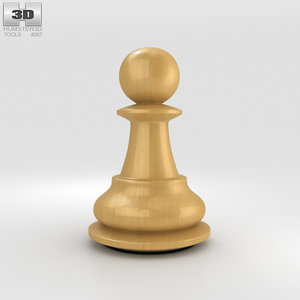 3D classic pawn chess model
