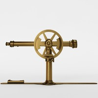 vintage telescope 3D model