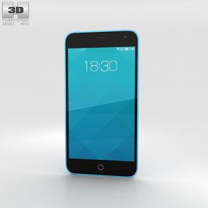 meizu m1 blue 3D