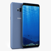 3D samsung galaxy s8 coral model