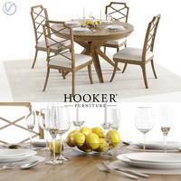 3D set hookers retropolitan table chair