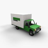 3D papercraft truck