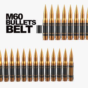 3D m60 bullet belt model