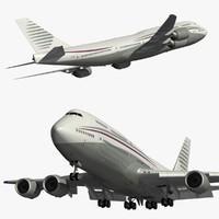3D boeing 747-8 qatar amiri