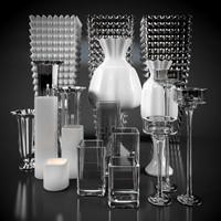 3D model decorative vases lamps