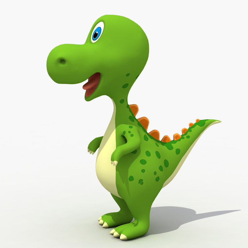 3D cute baby dinosaur