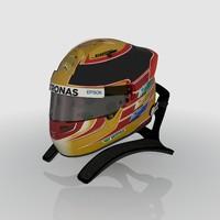 3D model lewis hamilton helmet 2017