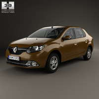 interior renault logan 3D model