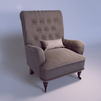 chair tufted 3D model