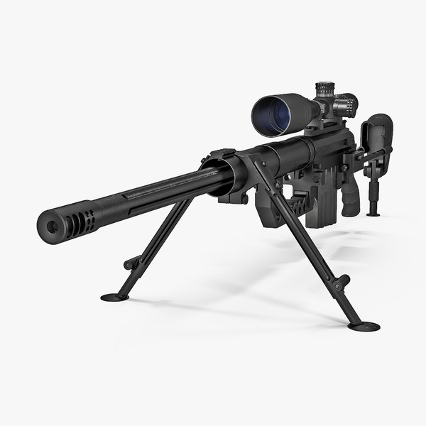 sniper rifle cheytac intervention 3D model