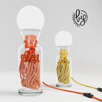 3D lamp pulse yellow