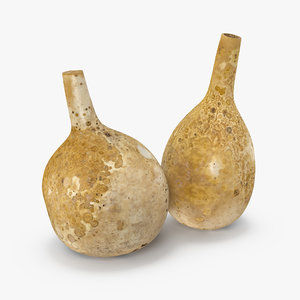 gourd containers set 3D model