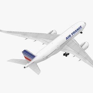 airbus a350-800 air france 3D