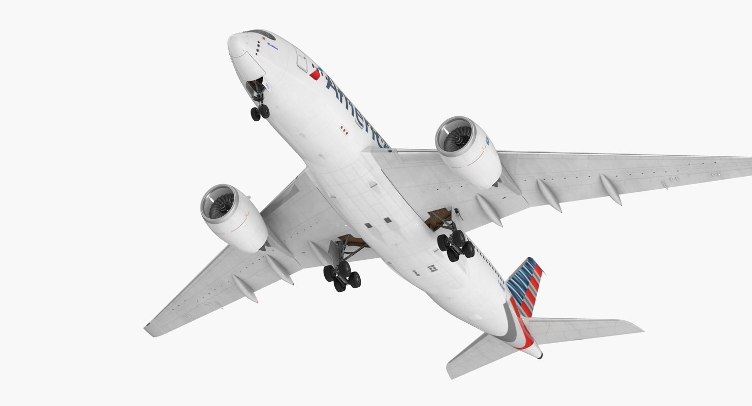 3D airbus a350-800 american airlines