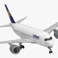 airbus a350-800 lufthansa 3D model