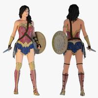 3D model wonder woman