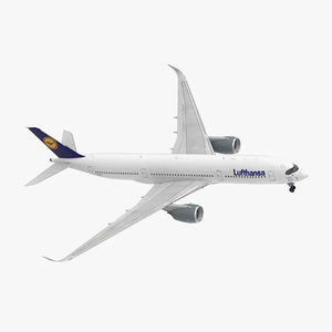 3D airbus a350-900 lufthansa