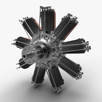 Clerget 9B rotary engine