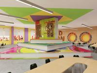 3D model school library