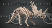 Wooden Styracosaurus construction kit