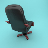 Office leather armchair