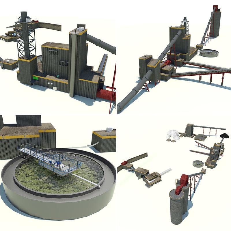 coal processing plant 3D