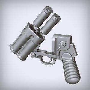 flare gun 3D model