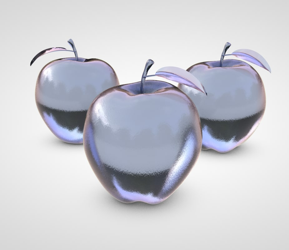 glass apple model