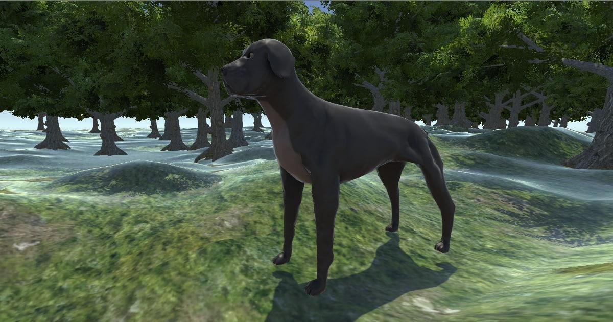character boerboel dog 3D model
