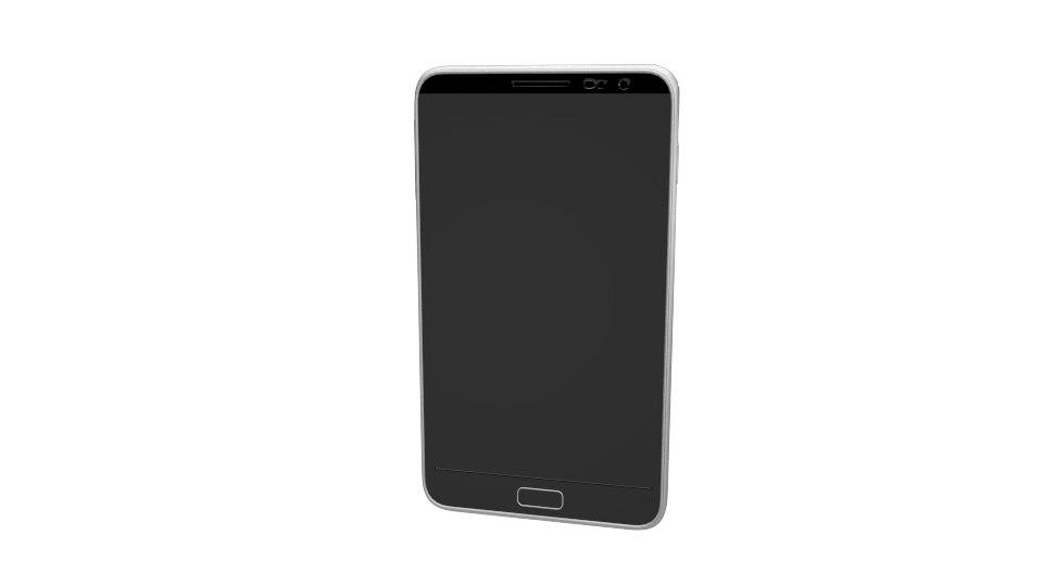 3D smartphone phone model
