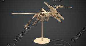 3D pteranodon wooden model