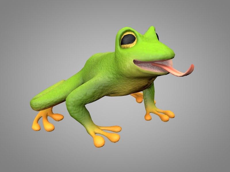frog toad 3D model