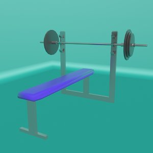 3D bench barbell