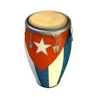 3D conga cubana model
