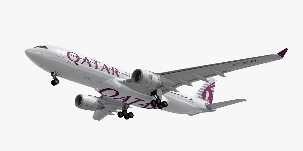 airbus a330-200 qatar airways model