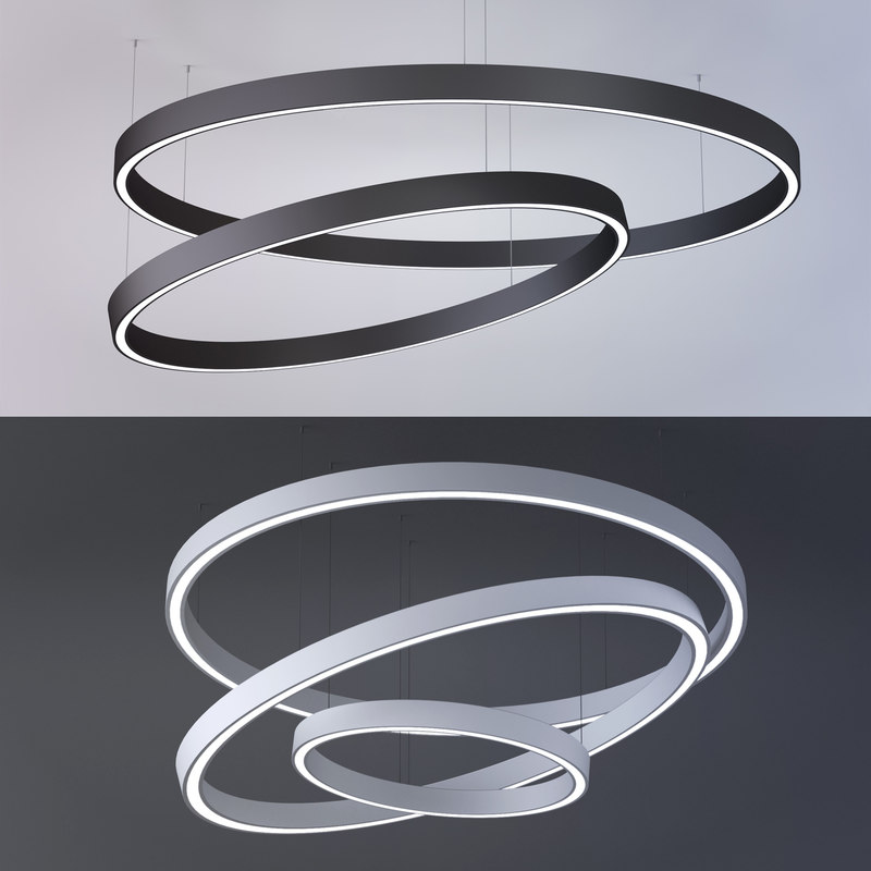 3D model diode lamp ring x-circule