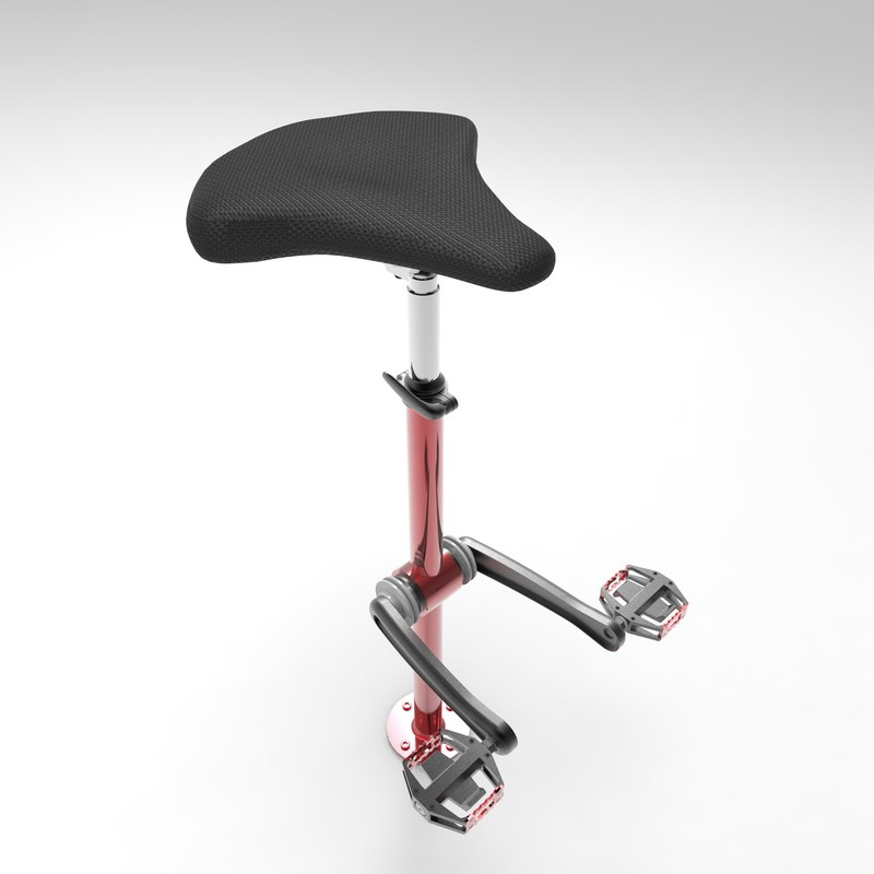 3D bicycle chair