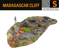 madagascar cliff rock 3D