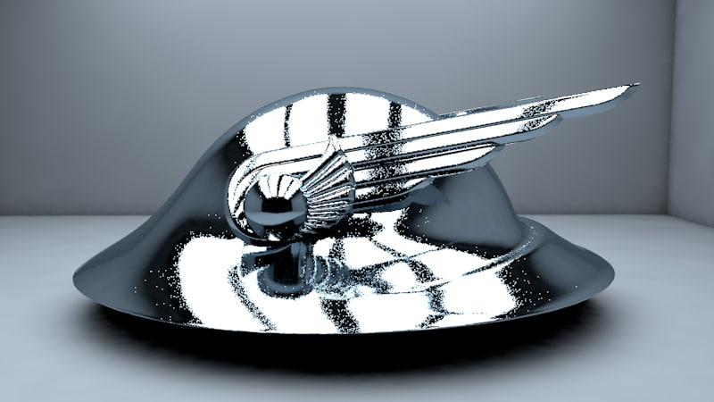 3D art deco hermes helmet